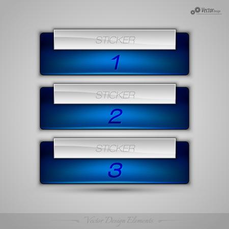 web design elements: Business banner for infographic, web design, apps. Vector design elements.
