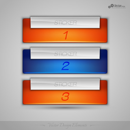feedback sticker: Business banner for infographic, web design, apps. Vector design elements.