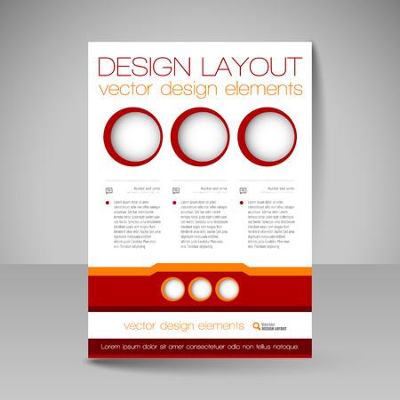 design vector: Template of flyer for business brochures, presentations, websites, magazine covers. Editable vector design elements.