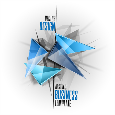 sharp: Sharp triangles on the abstract background as business template. design elements.