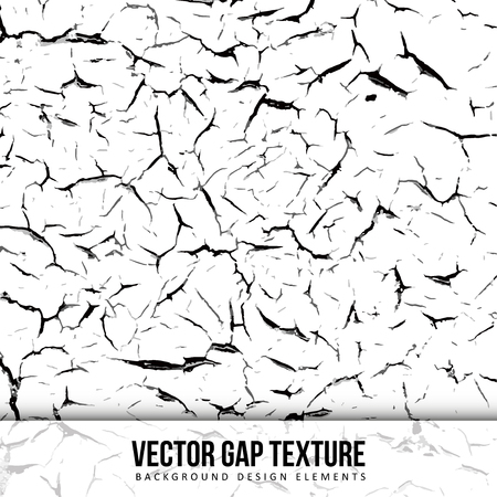 Gap texture. Old color. Vector background. Chipped wall. Illustration