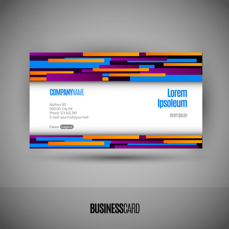 namecard: Business card with abstract lines. Modern design elements. Vector template.