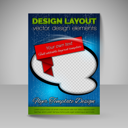 free photos: Template for brochure, poster or flyer. Editable site for business, education, presentation, website, magazine cover. Free space for your photos. Illustration