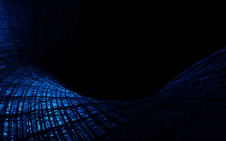 black blue: Blue shining wireframe as abstract polygonal background.