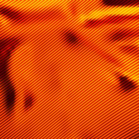 silky velvet: Orange satin with diagonal stripes as abstract background.
