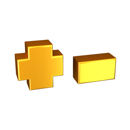 Golden letter. High quality 3D render. Isolated on the white background. There are complette alphabet in my portfolio.
