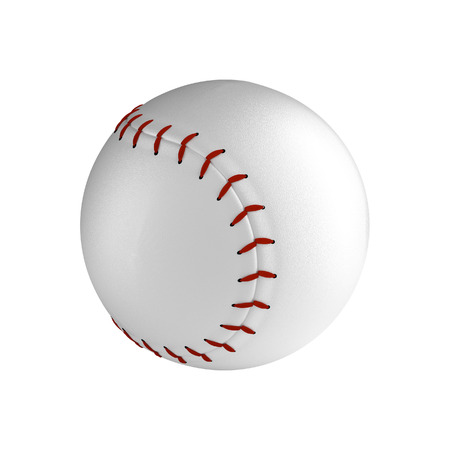 hardball: Baseball ball isolated on the white background without shadow. Detailsed sport equipment with texture. Stock Photo