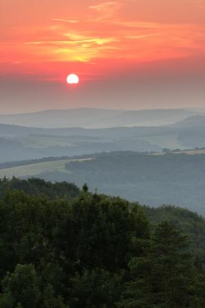 stefanik: sunset over landscape Stock Photo