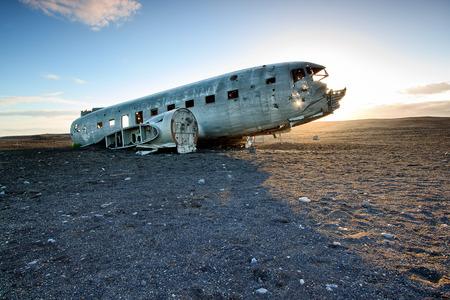 wrecks: Airplane wreckage - Iceland