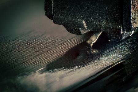 grooves: Macro photo of grooves turntable stylus