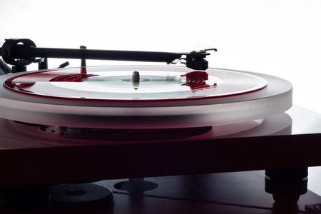 record player: Record player and vinyl record