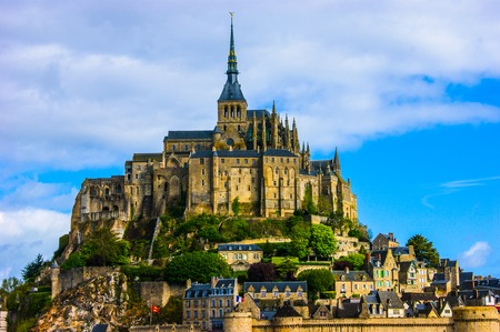 mont: Picture of Mont Saint-Michel abbey in France.