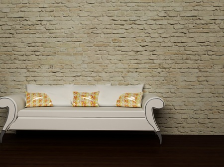 this is a nice sofa with the bright pillows Stock Photo - 12867197