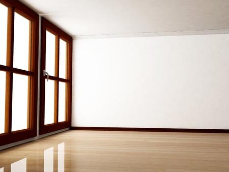 big window: Interieurontwerp scène met een groot raam