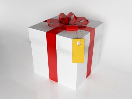 a beautiful gift box with a ribbon Stock Photo - 12867292