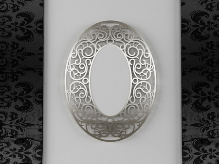 A beautiful vintage mirror on the wall photo