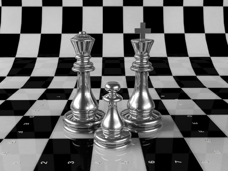 chessmen: composition of several chess Stock Photo