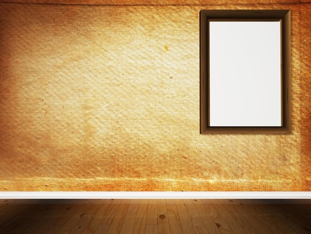Inter design scene with the frame on the wall  Stock Photo - 12867602