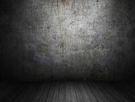 wall art: dark and gloomy empty room Stock Photo