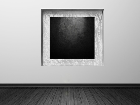 Interior design scene with a niche in the wall and a decor in it Stock Photo - 12867437