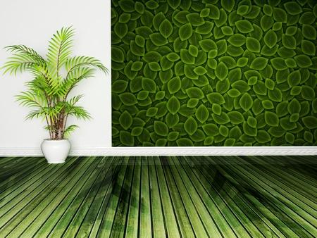 Interior design scene with a plant photo