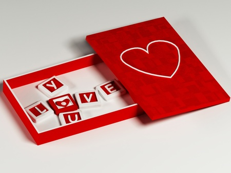 nice box with the blocks with the heart Stock Photo - 12867258