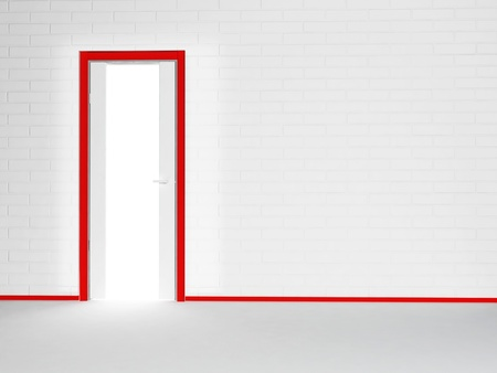 Interior design scene with a door, similar images are in my portfolio photo
