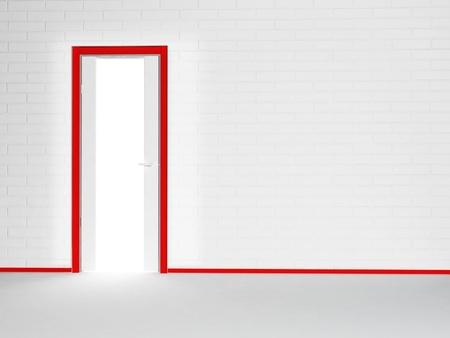 similar images: Interior design scene with a door, similar images are in my portfolio Stock Photo