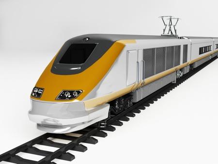treno espresso: veloce treno sulle rotaie