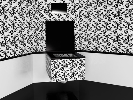 Interior design scene with a pan Stock Photo - 12881073