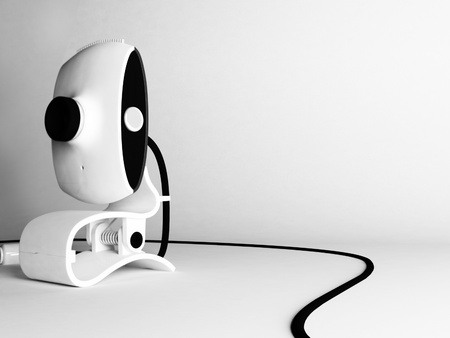motion sensor: Creative web camera on the white background, rendering