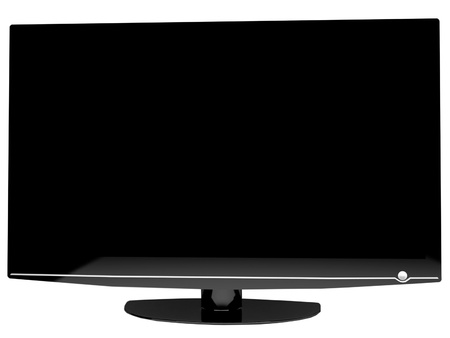 Modern tv isolated on white, new technology Stock Photo - 12867488