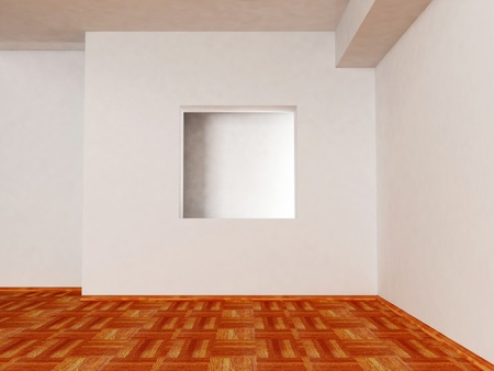 Bright room with a nice niche, rendering photo