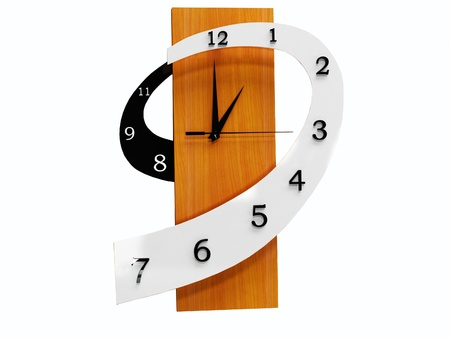 Modern watch isoleted on white, rendering photo