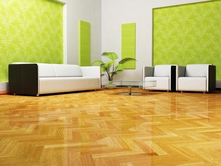 caoba: Diseño moderno interior del salón con un sofá y sillones