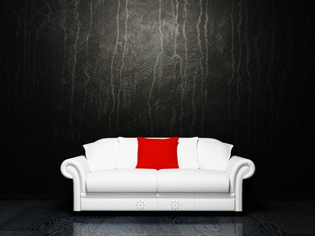Modern  interior design with a white sofa on the dirty background Stock Photo - 12975393