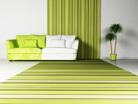 interior desing: Bright interior desing of living room with a nice sofa and the plant