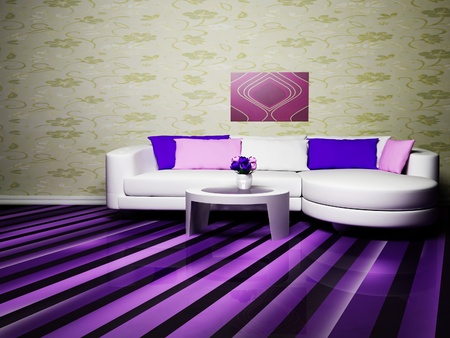 Modern Woonkamer Design : Modern interior design of living room with a nice sofa and table
