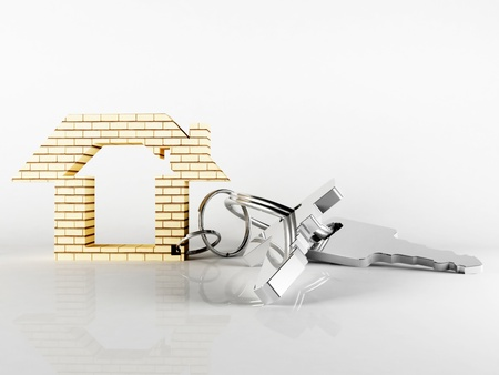 metall key for your new house Stock Photo - 13551456
