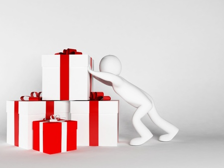 specifically: many gifts specifically for the holiday Stock Photo