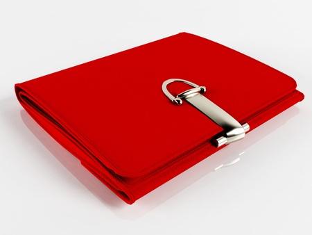 billfold: Womens beautiful red purse (wallet)