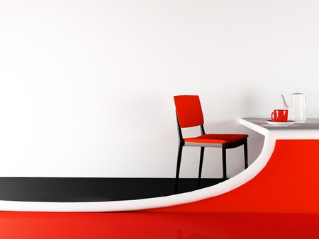 home furniture: chair and creative table in the cafe