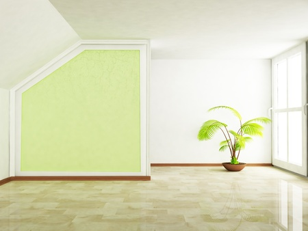 tree in an empty room Stock Photo - 13551477