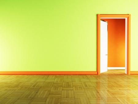open door  in the room Stock Photo - 13821959