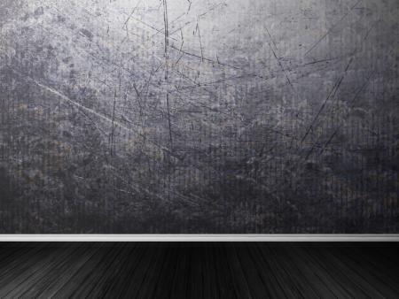 empty room in dark colors, rendering