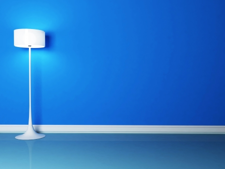 floor lamp in the blue room, rendering
