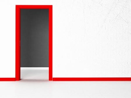 empty room with a doorway photo