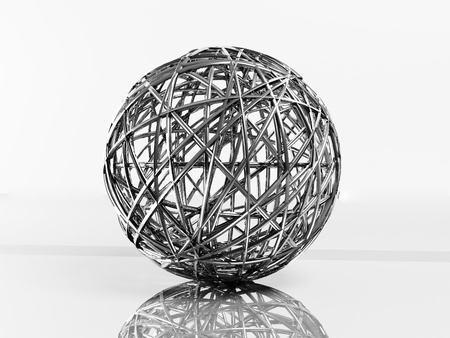 decorative metal ball, 3d rendering Stock Photo - 14181720