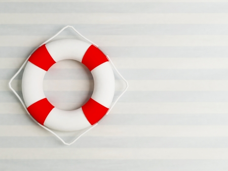 life preserver: life preserver on the wall, rendering