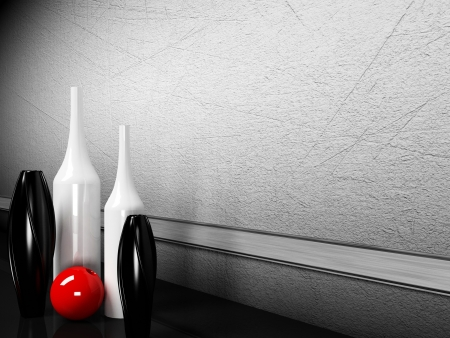 many creative vases on the floor photo